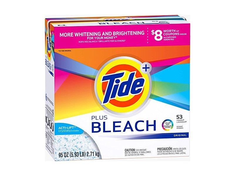 Tide Ultra Plus Bleach Original Scent Powder Laundry Detergent, 53 loads, 95 oz