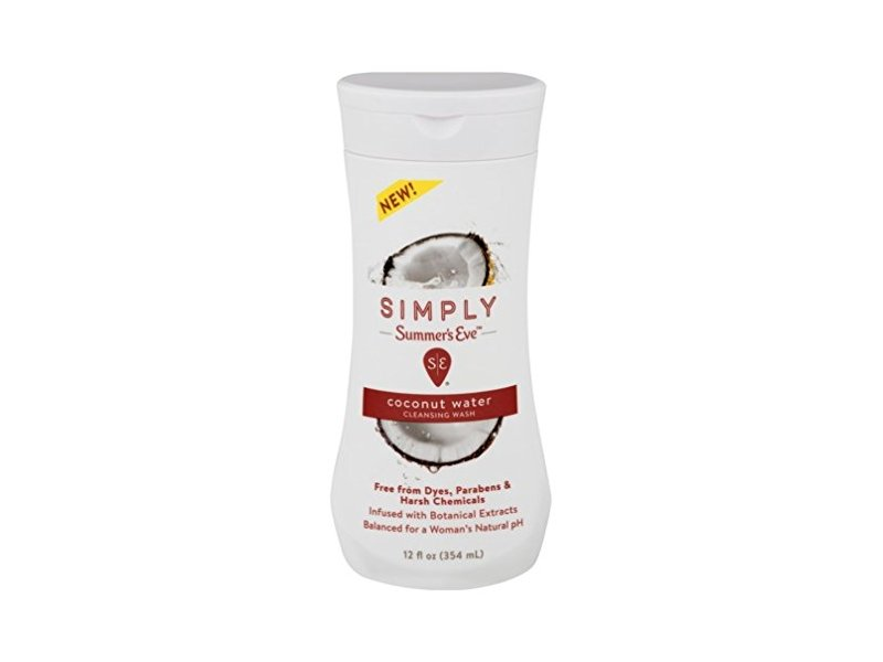 Summers Eve Simply Cleansing Wash, Coconut, 12 oz