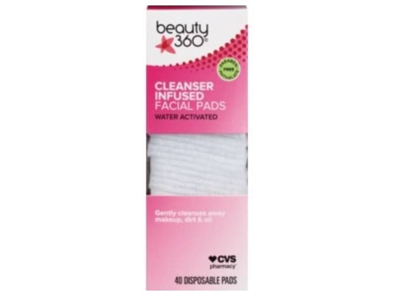 Beauty 360 Cleanser Infused Facial Pads