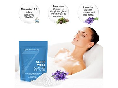 Seven Minerals Sleep Well Magnesium Chloride Flakes 3lb With Organic Cedarwood & Lavender - Image 5