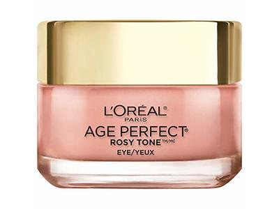 L'oreal Paris Skin Care Age Perfect Rosy Tone Eye Brightener Cream, 0.5 Ounce - Image 1