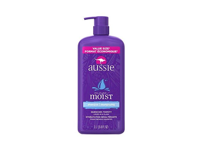 Aussie Mega Moist Shampoo, 33.8 Fluid Ounce