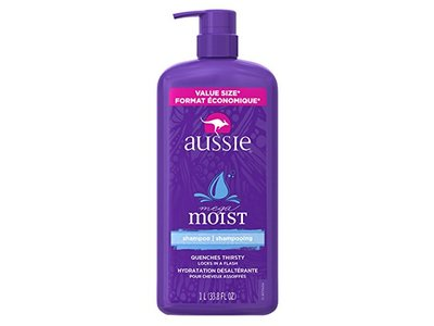 Aussie Mega Moist Shampoo, 33.8 Fluid Ounce - Image 1