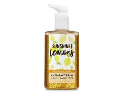 Bath & Body Works Sunshine And Lemons Anti Bacterial Hand Sanitizer, 7.6 fl oz/225 ml