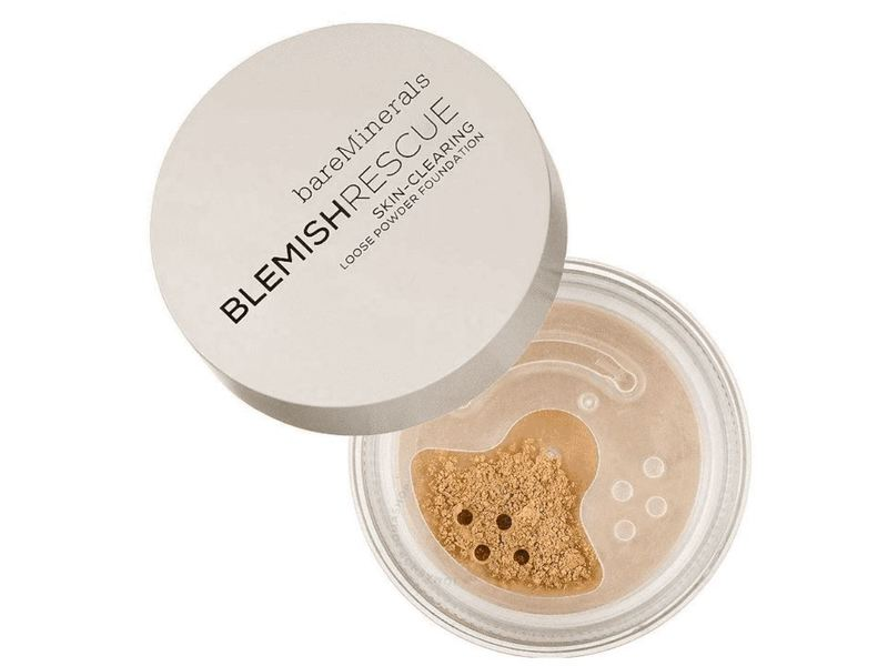 BareMinerals Blemish Rescue Skin-Clearing Loose Powder Foundation, 1NW Fairly Light, 0.21 oz