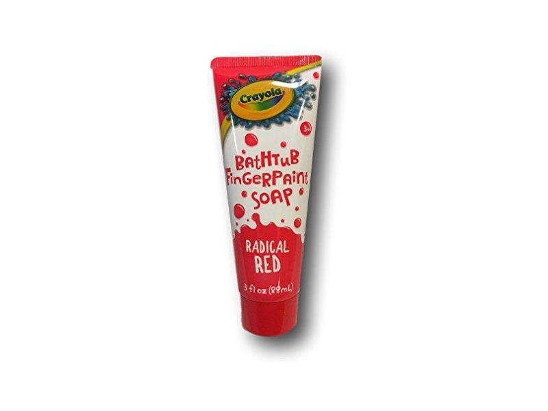 Crayola Bathtub Fingerpaint Soap, Radical Red, 3 fl oz