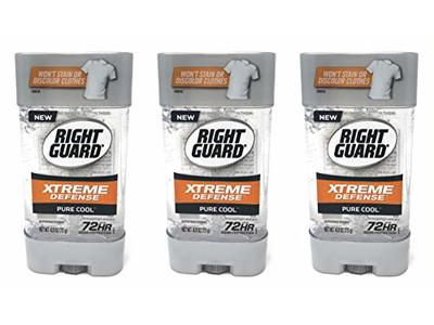 Right Guard Gel Xtreme Defense Pure Cool Antiperspirant, 4 oz