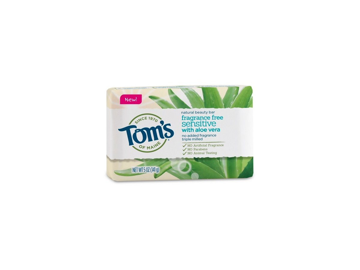 Tom S Natural Beauty Bar Fragrance Free