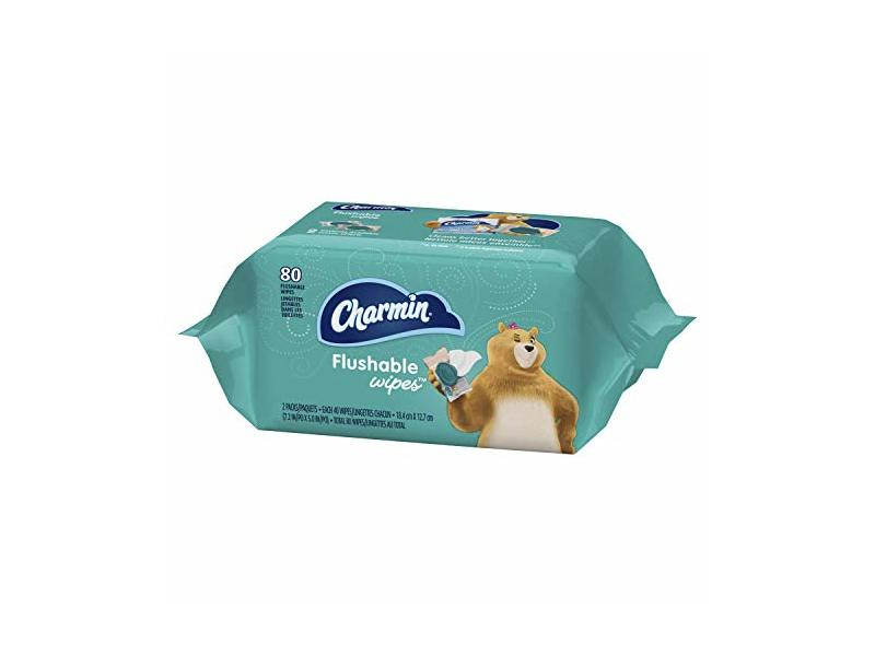 Charmin Flushable Wipes, 80 ct