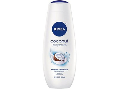 NIVEA Body Wash, Coconut, 16.9 Ounce (Pack of 3)