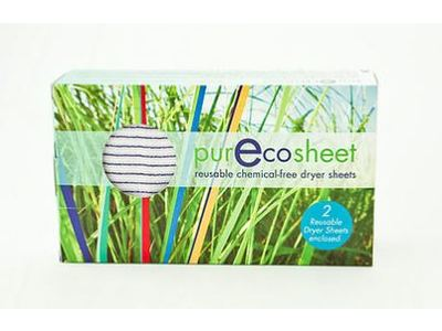 PurEcoSheet Static Eliminator Reusable Dryer Sheets, Chemical Free, 2 Count (500+ Loads)
