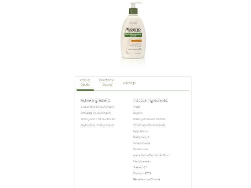 Aveeno Active Naturals Daily Moisturizing Lotion, SPF 15, 12 fl oz