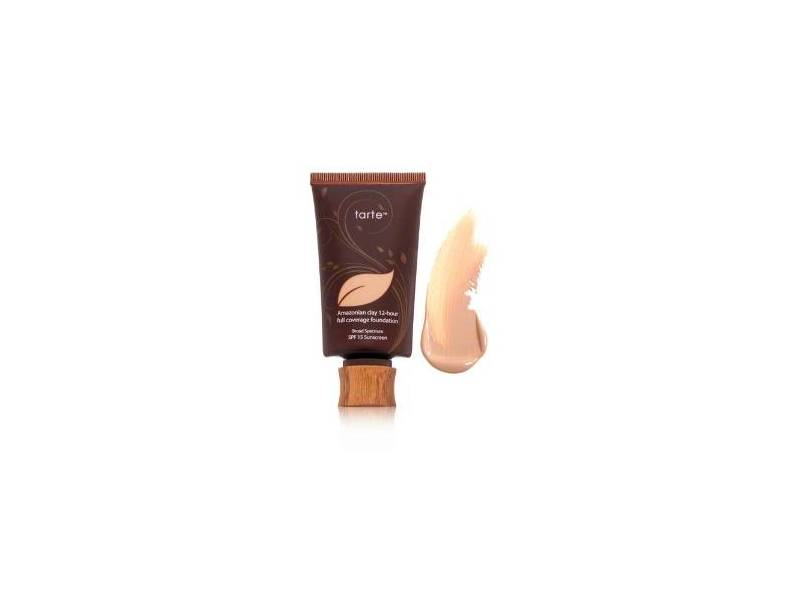 Tarte Amazonian Clay 12-hour Full Coverage Foundation, SPF 15, Tan Sand, 1.7 oz