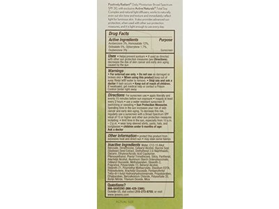 Aveeno Active Naturals Positively Radiant Daily Moisturizer, SPF 30, 2.5 Ounce - Image 3