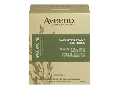Aveeno Daily Moisturizing Bath with Natural Colloidal Oatmeal, Fragrance Free 8 bath packets 6 oz - Image 1