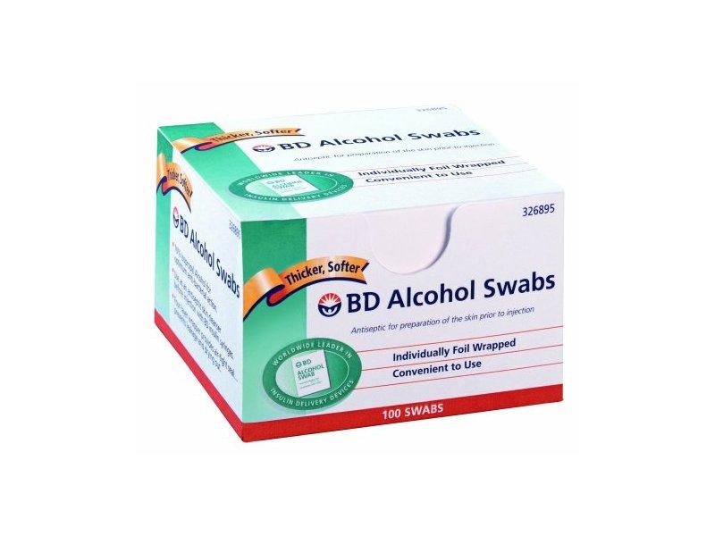 Bd Alcohol Swab 100 Units, 12-Count
