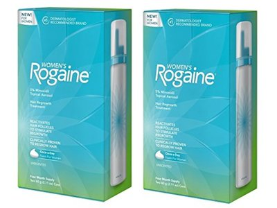 Women's Rogaine Foam Hair Regrowth Treatment, 4 Month Supply, 4.22 Ounce 2 Pack