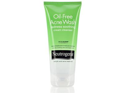Neutrogena Oil-free Acne Wash Redness Soothing Cream Cleanser, Johnson & Johnson - Image 1