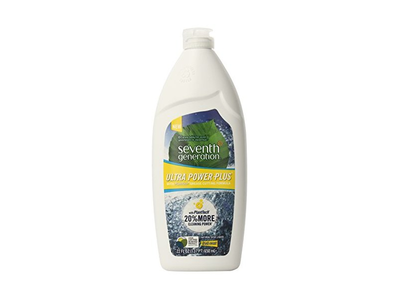 Seventh Generation Ultra Power Plus Natural Dish Liquid, Fresh Citrus Scent, 22 fl oz