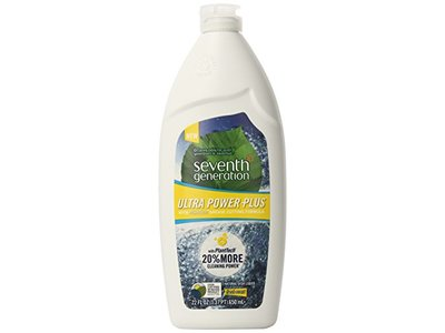 Seventh Generation Ultra Power Plus Natural Dish Liquid, Fresh Citrus Scent, 22 fl oz - Image 1