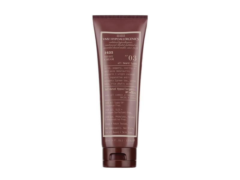 VMV Hypoallergenics 1635 Shave Cream No. 3 All Beard Types, 4.0 fl oz