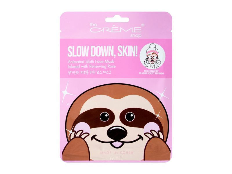 The Creme Shop Slow Down, Skin! Animated Sloth Face Mask