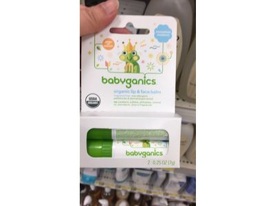 Babyganics Lip & Face Balm, Fragrance Free, 0.25 oz - Image 3