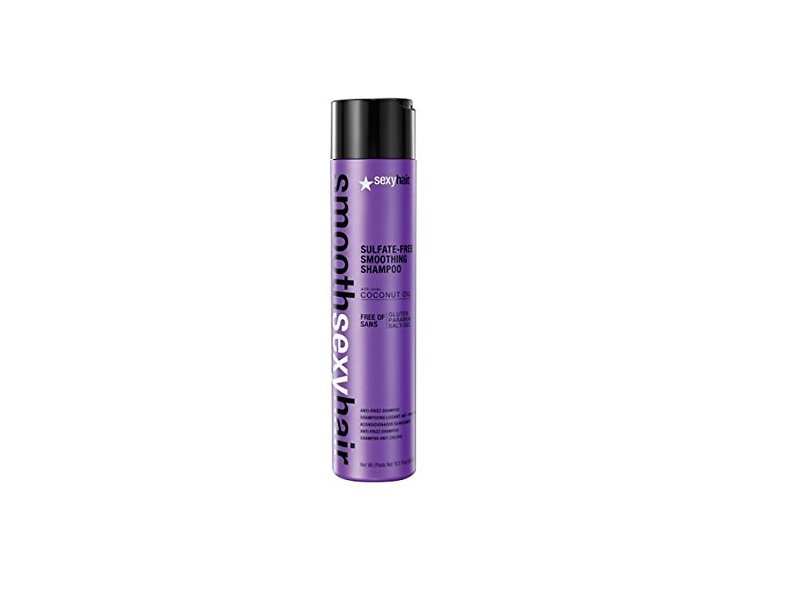 Sexy Hair Smooth Sulfate Free Smoothing Anti Frizz Shampoo, 10.1 Ounce