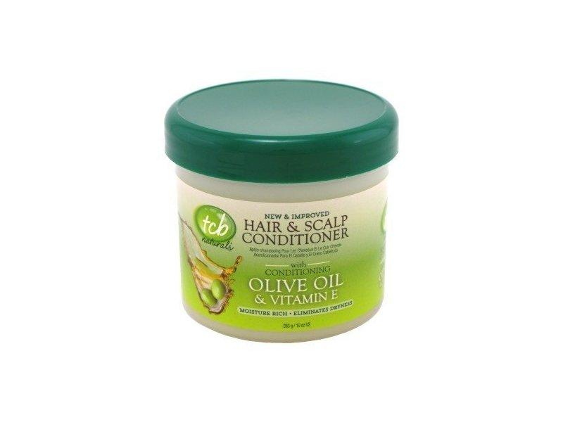 tcb Naturals Hair & Scalp Conditioner, Olive Oil & Vitamin-E, 10 oz