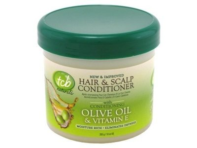 tcb Naturals Hair & Scalp Conditioner, Olive Oil & Vitamin-E, 10 oz