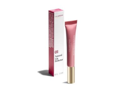 Clarins Natural Lip Perfector, 01 Rose Shimmer, 0.35 oz / 12 ml
