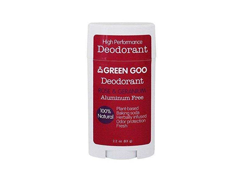 Green Goo All-Natural Aluminum Oval Free Deodorant, Rose & Geranium, 2.25 Ounce