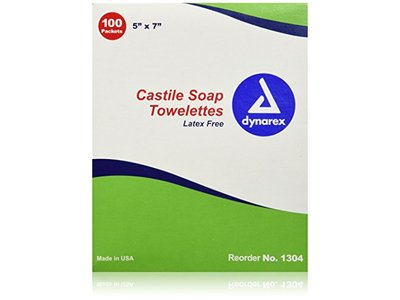 Dynarex First Aid Only Castile Soap Wipes
