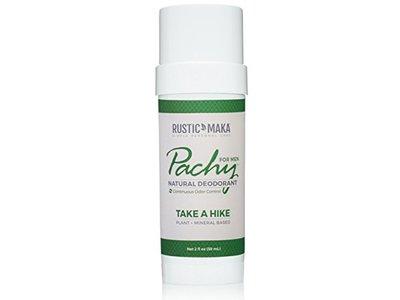 Rustic Maka Pachy Natural Deodorant, Take A Hike - For Men, 2 oz
