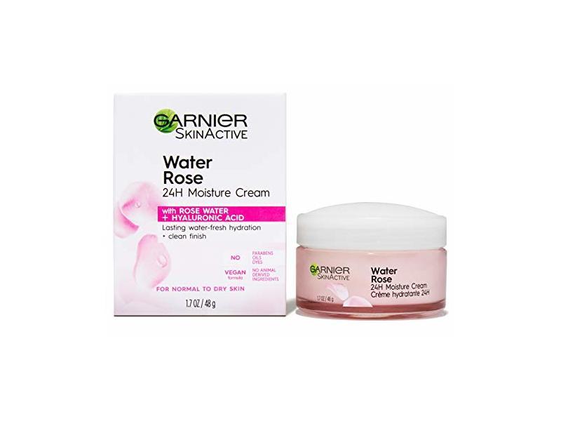 Garnier SkinActive Water Rose 24H Moisture Cream, For Normal to Dry Skin, 1.7 fl oz