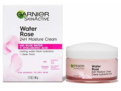Garnier SkinActive Water Rose 24H Moisture Cream, For Normal to Dry Skin, 1.7 fl oz
