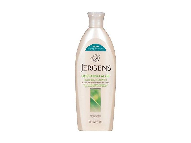 Jergens Soothing Aloe Lotion, Cucumber Extract & Aloe Vera, 10 fl oz