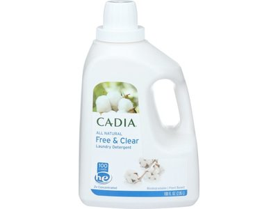 Cadia 2X Liquid Laundry Detergent Free & Clear, 100 oz