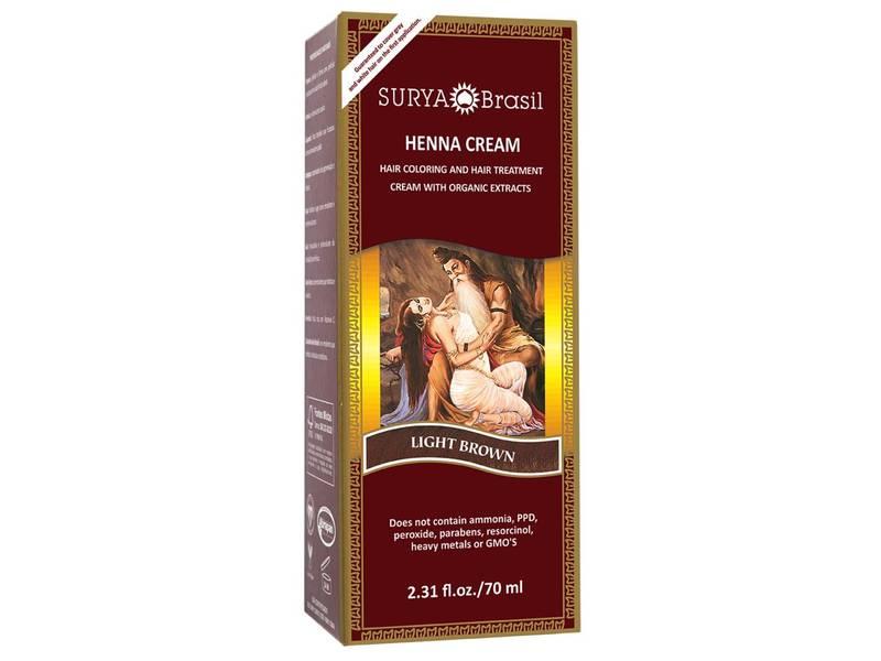 Surya Brasil Henna Cream, Light Brown, 2.31 fl oz
