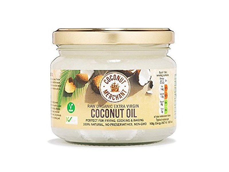 Coconut Merchant Extra-Virgin Organic Raw Coconut Oil, 300ml