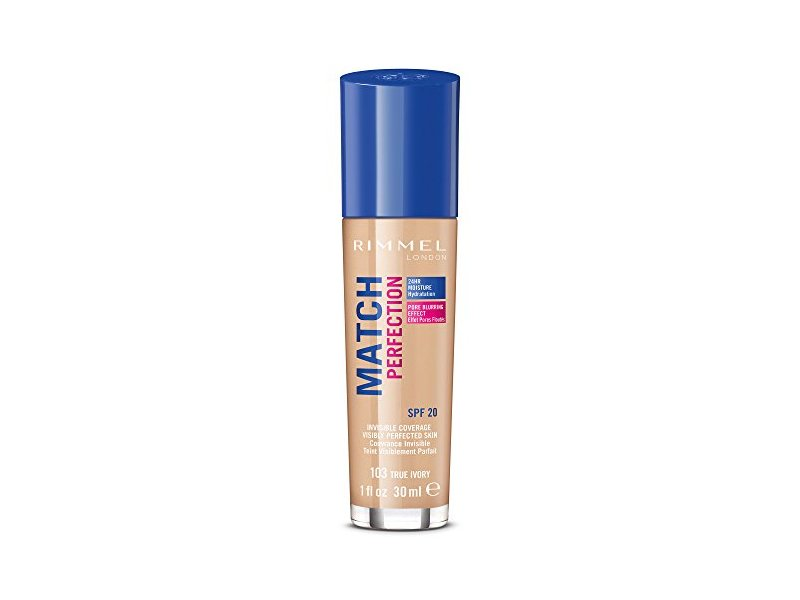 Rimmel Match Perfection Liquid Foundation SPF 20 Color 103 True Ivory 1 oz