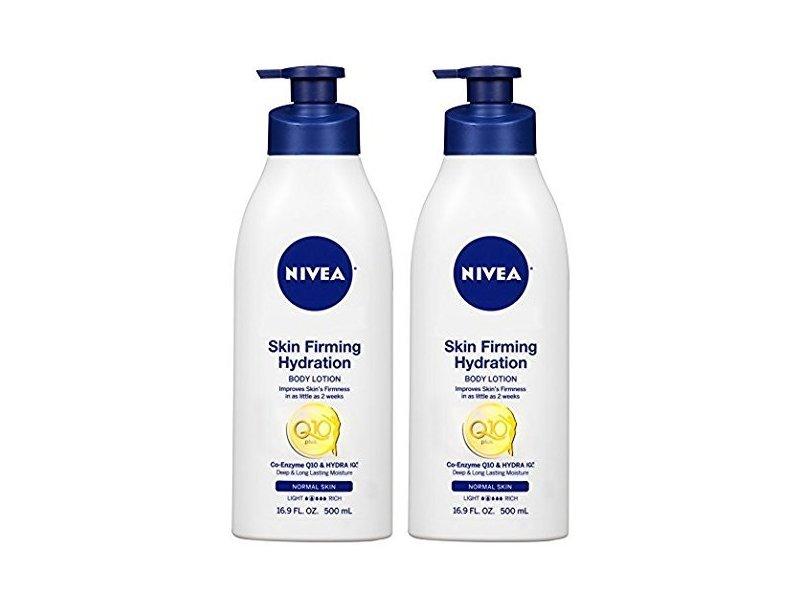 Nivea Skin Firming Hydrating Body Lotion- Co-Enzyme Q10 & Hydra 10, 16.9 FL OZ (500 mL) Each