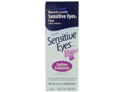Sensitive Eyes Plus Saline Solution, 12 oz