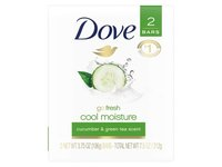Dove More Moisturizing Than Bar Soap Cucumber and Green Tea Beauty Bar - Image 2