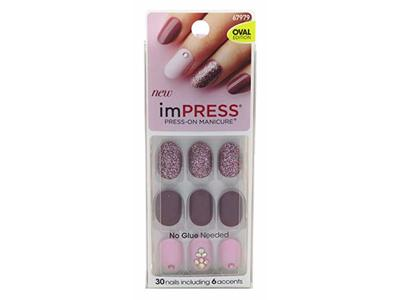 Kiss Impress Press-On Nails One Step Gel, So Unexpected, 6-pack
