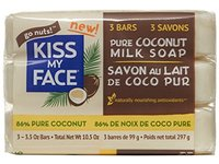 Kiss My Face Pure Coconut Milk Soap Bar with Coconut Oil, 3.5 Ounce, 3 Pack - Image 2