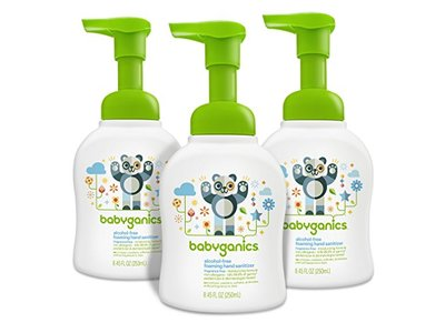 Babyganics Alcohol-Free Foaming Hand Sanitizer, Fragrance Free, 8.45oz Pump Bottle (Pack of 3) - Image 1