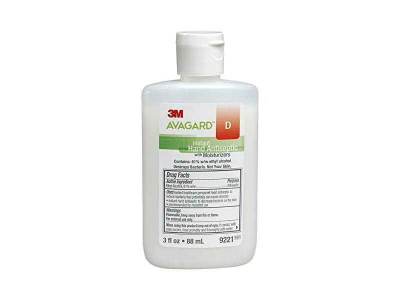 3M Avagard D Instant Hand Antiseptic with Moisturizers, 3 fl oz/88 mL