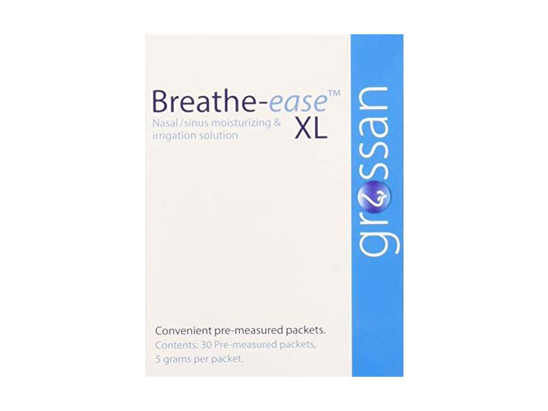 Grossan Breathe-Ease XL Nasal Sinus Irrigation Packets, 30 Count