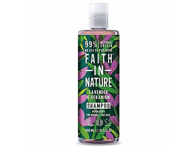 Faith in Nature Lavender & Geranium Shampoo 13.5 fl oz/400ml (PACK OF 2)